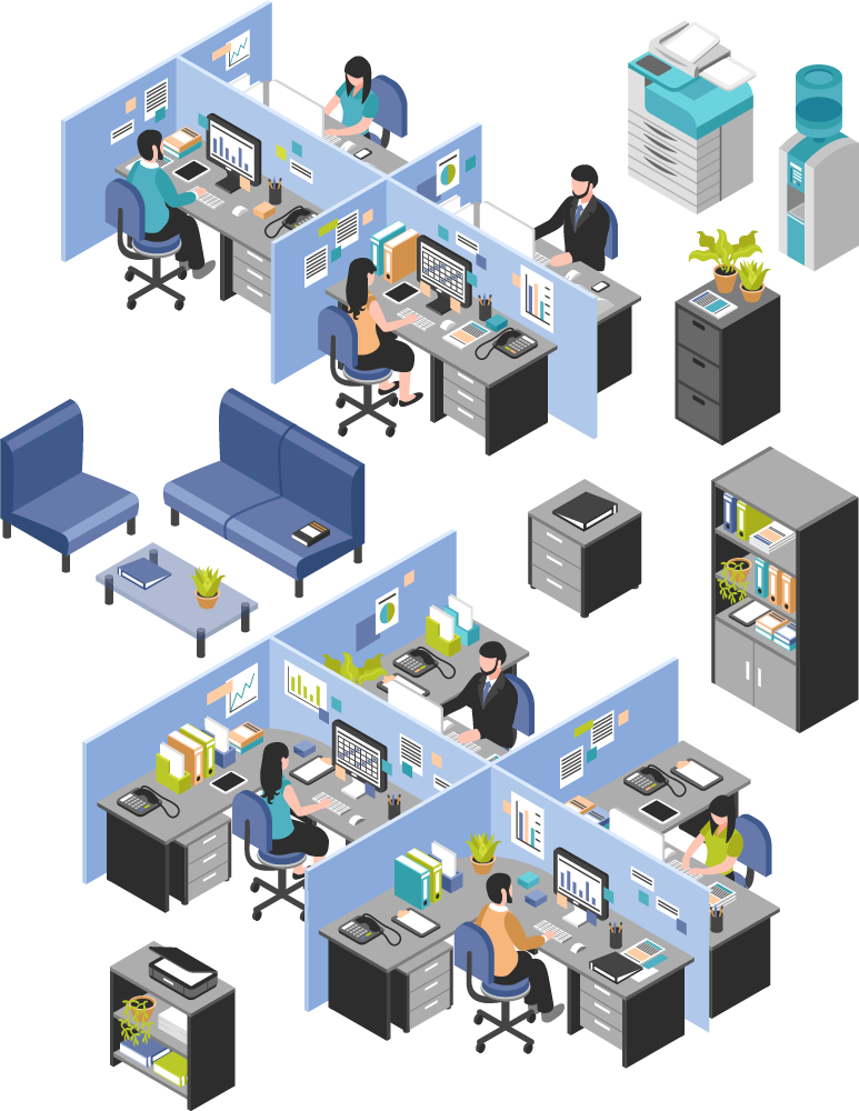 Illustration of an office